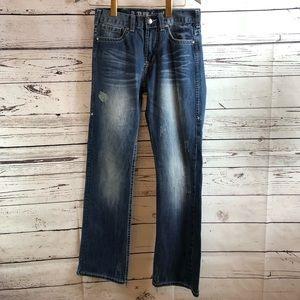 B Tuff Jeans Horsepower Distressed Bootcut 28X32